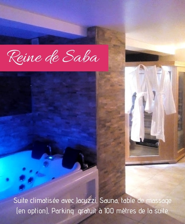 Chambre jacuzzi privatif La reine de Saba dans la région PACA