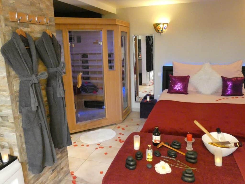 Suite avec jacuzzi privatif Avignon massage sauna
